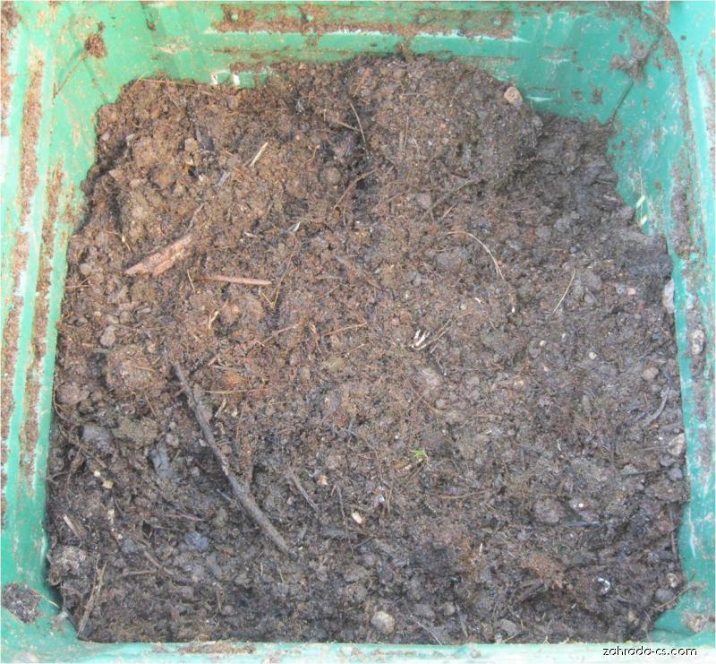 Kompost po 6 týdnech