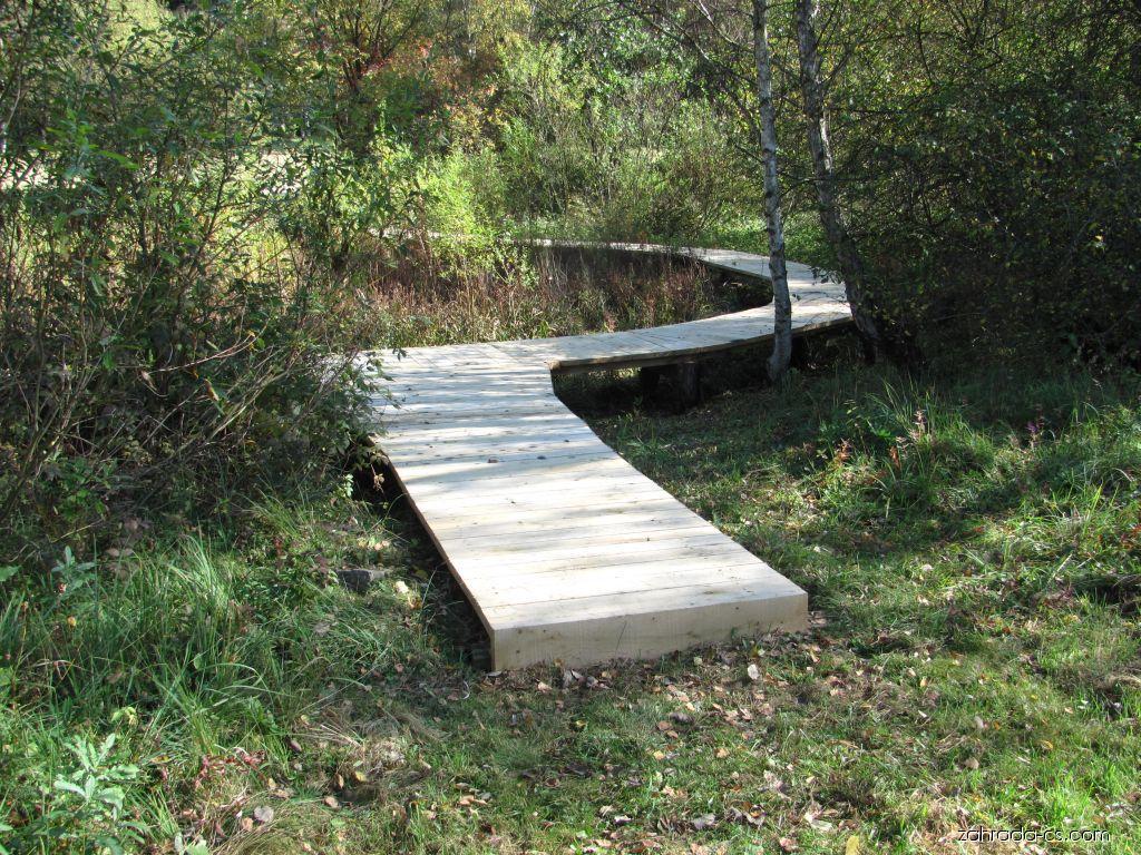 Arboretum Křtiny - můstek přes bažinu
